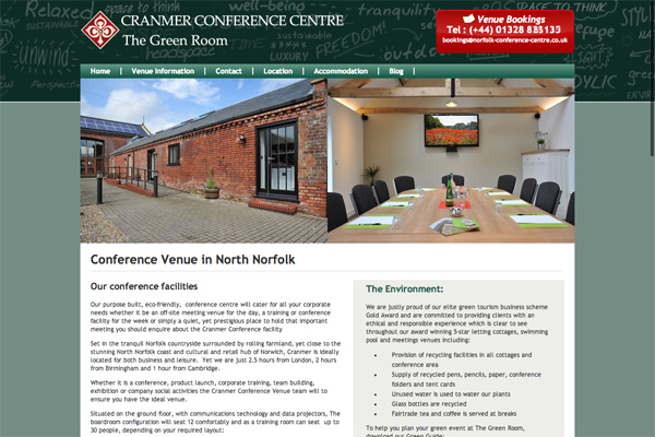 Brochure Website for Conference Centre