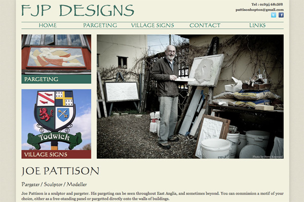 Craftsman Portfolio Website Design with wordpress
