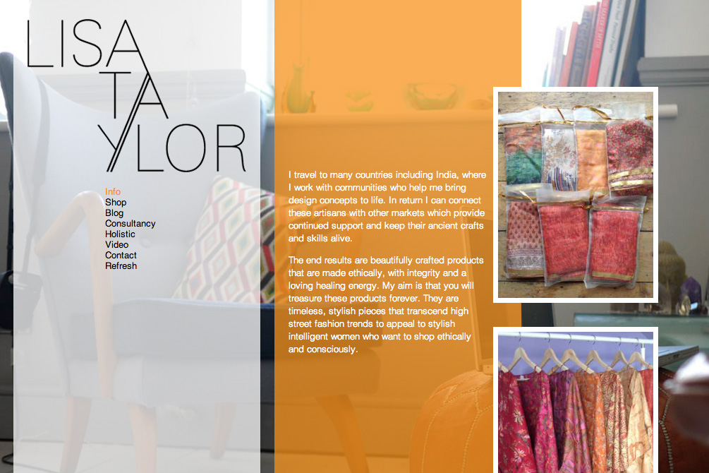 Fashion Consultant Portfolio Website Design with wordpress